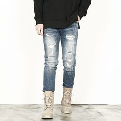 Rememberclick - Distressed Skinny Jeans