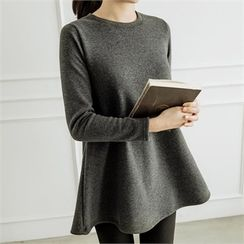 JOAMOM - Fleece-Lined Long-Sleeved Tunic