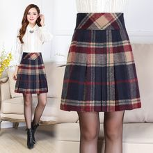 Romantica - Plaid A-Line Skirt