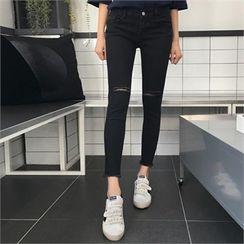 QNIGIRLS - Distressed Skinny Pants