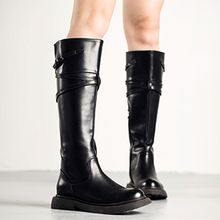 MIAOLV - Faux Leather Tall Boots