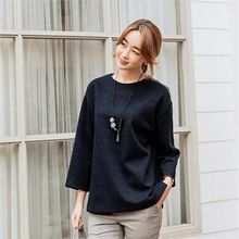 JOAMOM - 3/4-Sleeve Plain Top
