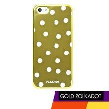 Vlashor - Polka Dot - Metellic Gold iPhone5 Case