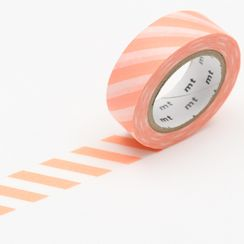 mt - mt Masking Tape : mt deco Stripe Salmon Pink