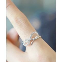 Miss21 Korea - Rhinestone-Infinity Open Ring