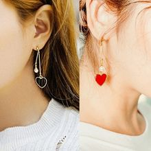 Ticoo - Heart Drop Earrings