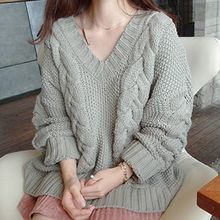 Ashlee - Cable Knit V-Neck Sweater