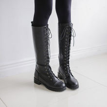 JUSTONE - Lace-Up Tall Military Boots
