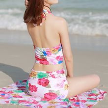 Roseate - Set: Floral Print Tankini + Beach Cover-Up
