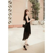 MyFiona - Sleeveless Dip-Back Chiffon Dress