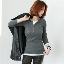 GLAM12 - Long-Sleeve Ribbed Henley