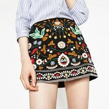Chicsense - Embroidered A-Line Skirt