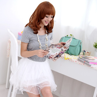 59 Seconds - Short-Sleeve Tulle Dress