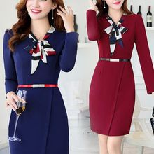 Ashlee - Long-Sleeve Sheath Dress
