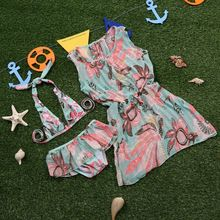 Sweet Splash - Kids Set: Print Bikini + Cover-Up Dress