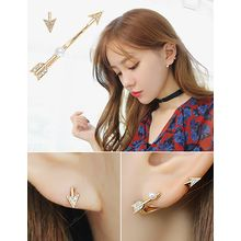 soo n soo - Rhinestone Faux-Pearl Asymmetric Earrings (4 Designs)