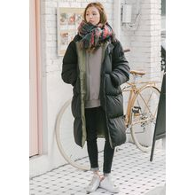 GOROKE - Hooded Duck-Down Long Puffer Coat