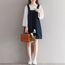 Emeline - Linen Jumper Dress