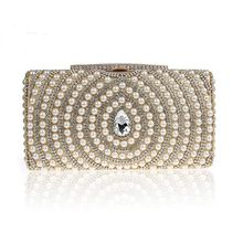 Glam Cham - Beaded Rhinestone Clutch