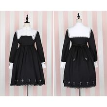 GOGO Girl - Embroidered Panel Long-Sleeve Dress