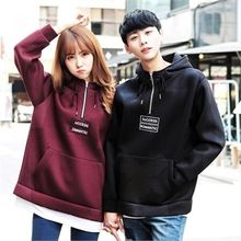 TOMONARI - Couple Hooded Lettering Pullover