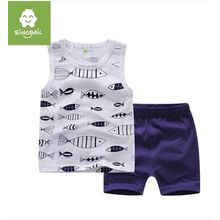 Endymion - Kids Set: Fish Print Tank Top + Shorts