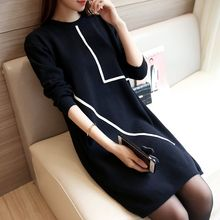 Ageha - Long-Sleeve Knit Dress