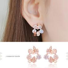 soo n soo - Butterfly Crystal Earrings