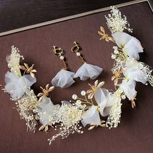 First Impression - Bridal Set: Headpiece + Earrings + Hair Stick