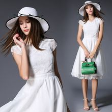 Lina Love - Cap-Sleeve Chiffon Dress