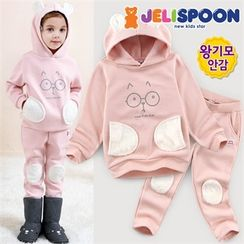 JELISPOON - Girls Set: Hooded Pullover + Sweatpants