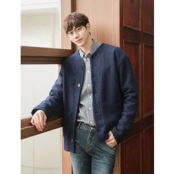 STYLEMAN - Wool-Blend V-Neck Cardigan
