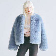chuu - Open-Front Faux-Fur Jacket