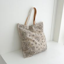 JUSTONE - Paisley Linen Blend Shopper Bag