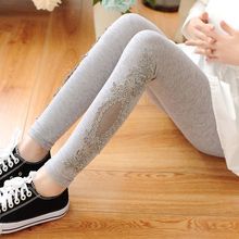 DORRIE - Lace Panel Leggings