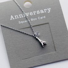 Love Generation - Eiffel Tower Sterling Silver Pendant Necklace