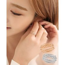 Miss21 Korea - Hexagonal Mock Stacked Ring