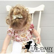 March Daisy - Kids Faux Leather Bow Hair Clip