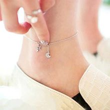 Silver City - Moon and Star Sterling Silver Anklet