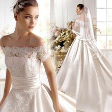 Angel Bridal - Off-Shoulder Ball-Gown Wedding Dress