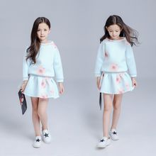 Kidora - Kids Set: Floral Pullover + Skirt