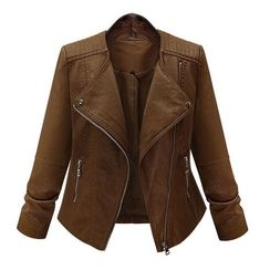 Coronini - Faux Leather Biker Jacket