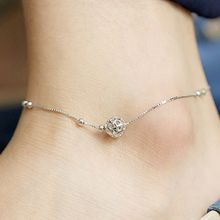 Kulala - Hollow Ball Sterling Silver Anklet