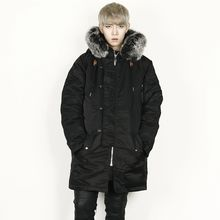 Rememberclick - Faux-Fur Trim Hooded Coat