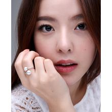 Miss21 Korea - Faux-Pearl Open Ring