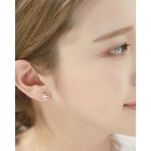 Miss21 Korea - Rhinestone Snowflake Stud Earrings