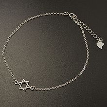 Silver City - Hexagram 925 Sterling Silver Anklet