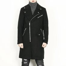 Rememberclick - Zip-Trim Double-Breated Long Coat