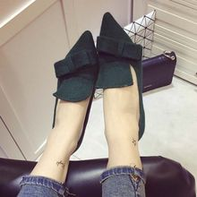 Crystella - Heeled Bow Pointy Loafers