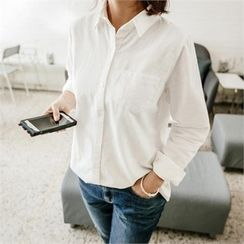 JOAMOM - Pocket-Front Plain Shirt